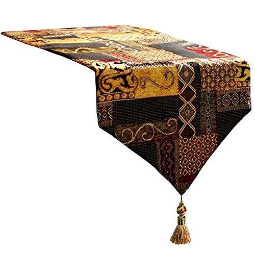 Artbisons Table Runner Handmade Golden Table Runner (120x13, Gold Illusion)]()