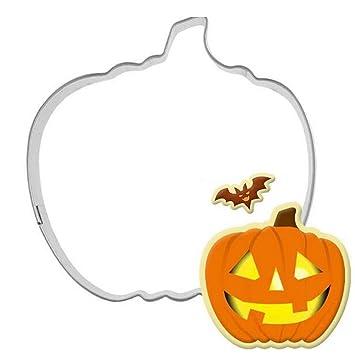 honeysuck Creative Halloween calabaza de acero inoxidable cortador de galletas molde para fiestas (plata): Amazon.es: Hogar