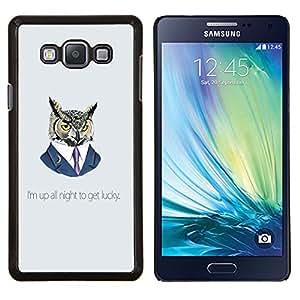 For Samsung Galaxy A7 A7000 Case , Divertido Up All Night Owl- Diseño Patrón Teléfono Caso Cubierta Case Bumper Duro Protección Case Cover Funda