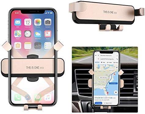 """Ossky Handyhalterung Auto Handyhalter fürs Auto KFZ Handyhalterung Lüftung Handy Halterung Autohalterung Universal für iPhone XS Max/XS/X, Samsung S10/S10e/A8/A30/A40/A50, Huawei, 4,0""""- 6,5"""" - Gold"""
