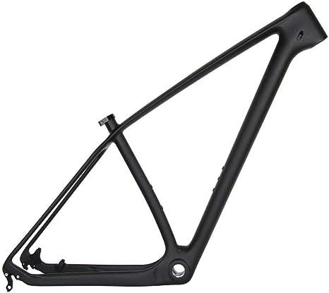 Wenhu Cuadro de Carbono MTB 650B Soporte de Carbono para Bicicleta de montaña UD Negro 142 * 12 mm Eje Transversal y Cuadros QR de 135 * 9 mm,29er15inchGlossy: Amazon.es: Deportes y aire libre