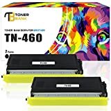 brother 1440 - Toner Bank 2-PACKS TN-460 Compatible Toner Cartridges Replacement for Brother HL-1030 1230 1240 1250 1270N 1435 1440 1450 1470N DCP-1200 1400 Intellifax-4100 4100E 4750 5750 5750E MFC-8300 8500 8600