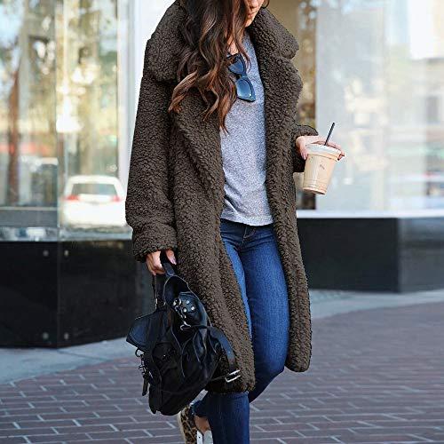 Manches Veste À Outwear Amuster Pour Automne Femmes Manteau Slim Gris Hiver Longues Fit Jacket Long Chaud Épais wqw14