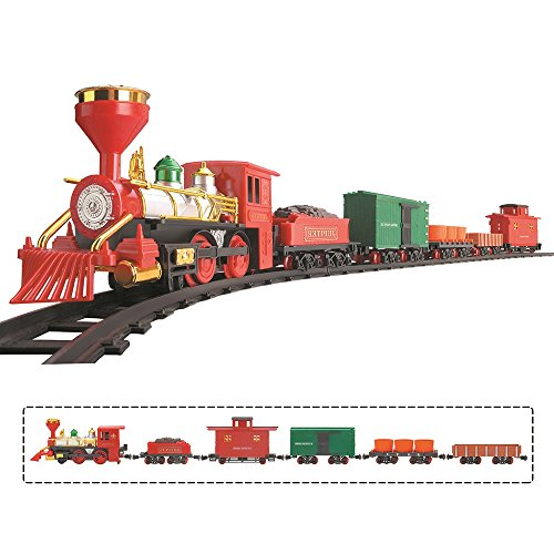 16 Piece Classical Battery Operated Kids Toy Jupiter Train Set Smoke Sound