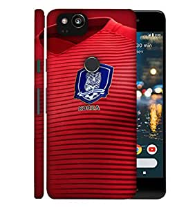 ColorKing Football South Korea 08 Red shell case cover for Google Pixel 2