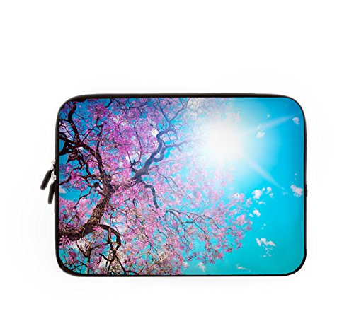 Violet Mist Women Neoprene Cherry Blossom Soft Laptop Sleeve Case Cover For All 13 inch Computers - 13.3