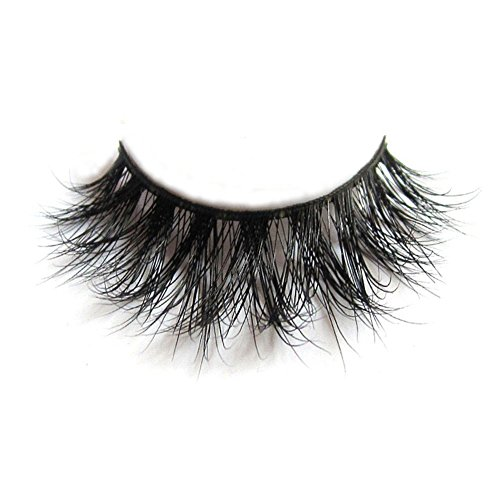 3D Mink Fur Fake Eyelashes 100% Siberian Mink Fur Hand-made False Lashes 1 Pair Package (Best Eyelash Extensions Miami)