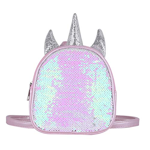 Amazon.com | IEFIEL Gilrs Glittery Sequins Cartoon Theme Backpack Mini Satchel Daypack Travel Shoulder Bag Gold One Size | Kids Backpacks