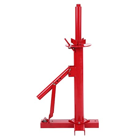 Festnight Mini Tyre Changer with Bead Breaker Bar Professional Tool Red 13 x 13 x 42 cm