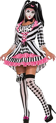 Adult Ladies Halloween Fancy Dress Party Harlequin Clown Ring Mistress Costume (Ring Mistress Halloween Costume)