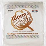 Warm Company 72-Inch by 90-Inch Warm & White Cotton Batting