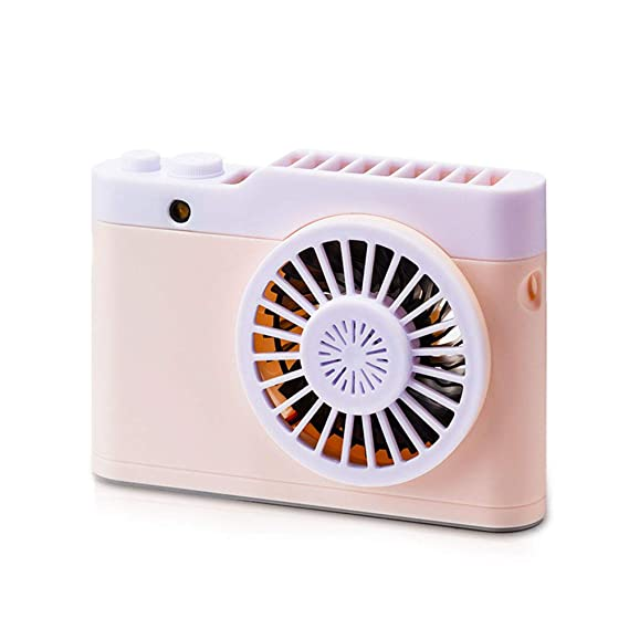 RONSHIN Home Portable Mini Tabletop USB Charging Fan for Student Dormitory Sky White Cute cat Modeling