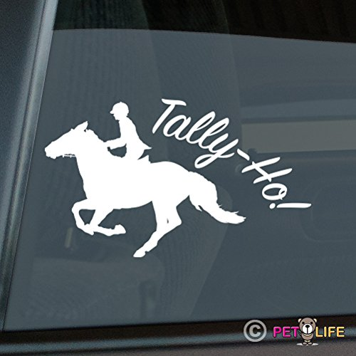 Mister Petlife Tally-Ho Fox Hunting Sticker Vinyl Auto Window Girl Horse foxhunting Equestrian (Girl Fox Window Decals)