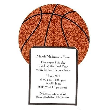amazon com basketball invitation pack of 10 party invitations