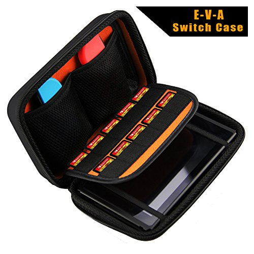 Nintendo Switch Case, Protective Carry Case With 10 Game Holders for Nintendo Switch