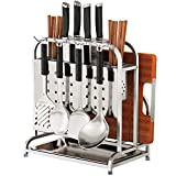 Cutlery Racks Shelf Storage Racks Pot Rack Shelf Baskets Cupboard Organizers Kitchen Stainless Steel Thicken Storage Safety Tool Sort Out ZHAOYONGLI