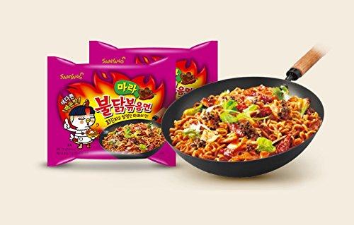 Korean Samyang Mara Hot & Spicy Roasted Chicken Ramen Ramyun Noodle (135g x 4pcs)