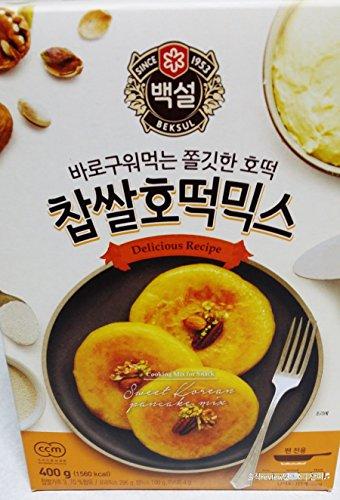 Korean Sweet Pancake Mix, Hotteok (14.10 oz) By Beksul (Original, 1 Pack (14.1 oz))