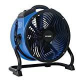 XPOWER FC-300 Professional Grade Air Circulator, Utility Fan, Carpet Dryer, Floor Blower-14 Diameter Heavy Duty Portable Shop, Blue