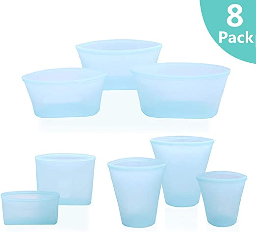 8pcs Set Zip Lock Leakproof Containers-Completely Plastic Bag-Free Shipping