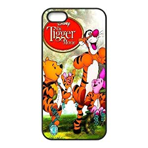 Custom for iPhone 5 5s Cell Phone Case Black Winnie the Pooh Theme DG2885