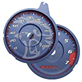 Dayton Edition Custom Dodge Charger Hellcat Contusion Blue Gauge Face for 2015-2017