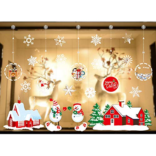 Shine-Co Window Clings Christmas Stickers Window Decals Christmas Thanksgiving Party Decorations Supplies (Gift Ball)