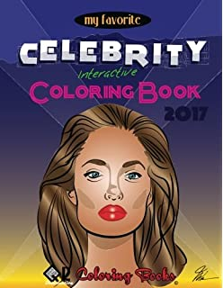 my favorite celebrity interactive coloring book qr coloring volume 5 - Celebrity Coloring Book
