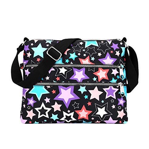 Nawoshow Light Weight Slim Shoulder Bag Messenger Handbags Cross Body MultiPockets Zipper Bag