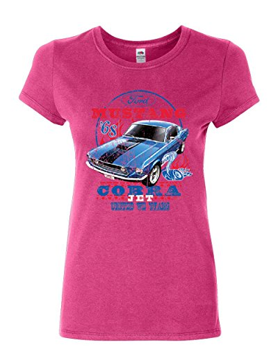 Ford Mustang Cobra 1968 Women's T-Shirt United We Stang American Classic Shirt Pink 3XL (Eleanor 1968 Ford Mustang Shelby Gt500 For Sale)