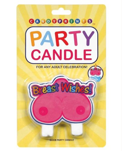 Candyprints Llc Breast Wishes Party Candle