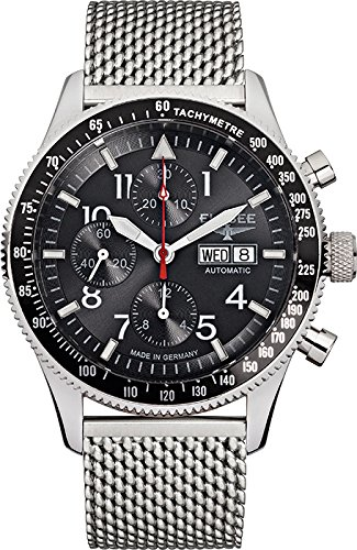ELYSEE Men's 80530MBLACK Executive-Edition Analog Display Automatic Self Wind Silver Watch