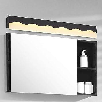 LAMP Luz Hogar Espejos de baño Espejos LED Luz simple y moderna Frente Impermeable, antiniebla Lámpara de espejo de baño,Negro (luz blanca) -100cm: Amazon.es: Bricolaje y herramientas
