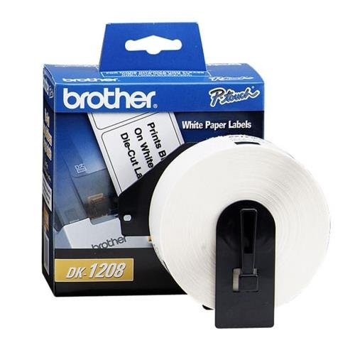 """Brother 1-1/2"""" x 3-1/2"""" Address Paper Labels (400-Pack) White BROTHER DK1208"""