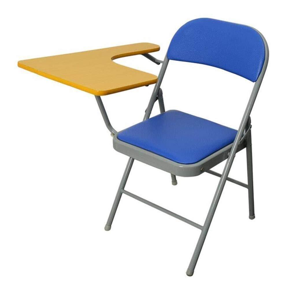 de moda Azul FENGFAN-Silla plegable plegable plegable Tablero de Escritura Silla de Entrenamiento de Oficina Reunión Silla del Estudiante Silla de Mesa con Estructura de Hierro (Color   Azul)  ¡envío gratis!