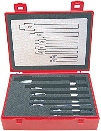 """KEO 55240 Tool Precision Cap Screw Counterbore Set, 1/64"""" Clearance, #6 - #10 and 1/4"""" - 1/2"""" Sizes"""