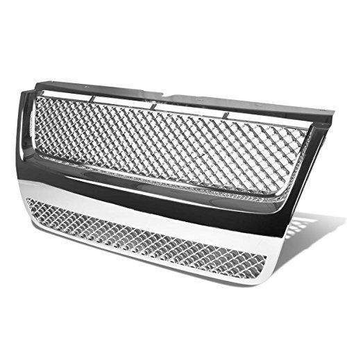 Chrome Mesh Bentley Grille (Ford Explorer ABS Plastic Mesh Bentley Style Front Bumper Grille (Chrome) - 4th Gen U251)