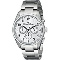Lucien Piccard Men's LP-10588-22S Moderna Analog Display Japanese Quartz Silver-Tone Watch