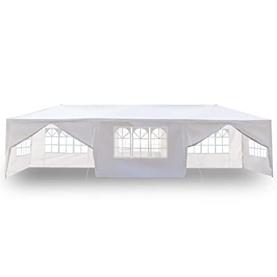 Wendy Ivan 3 x 9m Party Tent,Outdoor Canopy Tent,Folding Gazebo Portable Wedding Party Tent,8 Sides Portable Home Use Waterproof Tent with Spiral Tubes for Party Wedding Events Beach BBQ,White: Sports & Outdoors