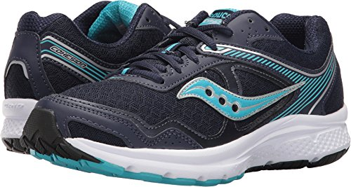 Saucony Women's Cohesion 10 Running Shoe, Navy Blue, 10.5 Medium - Blue Running