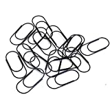 OUTU 100pcs 50mm Rose Gold Paperclips Electroplating Metal Clip Paper Clips Decorative Stationary H0166 (black)