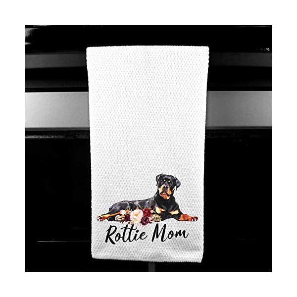 Rottie Mom Rottweiler Microfiber Kitchen Tea Bar Towel Gift for Animal Dog Lover 1