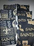 New Orleans Saints tournament regulation cornhole bags set of 8