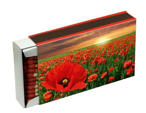 10 cajas a 50 Zündholzer para barbacoas, chimenea y velas Camino 10 cm (caja de cerillas 500), diseño de flores KM Match: Amazon.es: Hogar