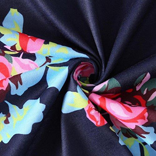 La Longue DContractE Florale Manches D'T Bleu Ligne Femmes Robe LChe Fonc Bleu Robe Les Impriment Sangle sans Une VJGOAL Plage Fonc Ew6axBqz0