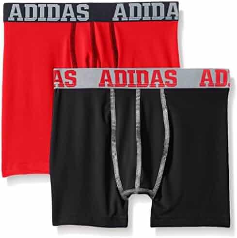 adidas Boys' ClimaLite Boxer Brief (2 Pack)