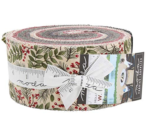 - Winter Manor Jelly Roll 40 2.5-inch Strips by Holly Taylor for Moda Fabrics 6670JR