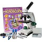 Omano OM117L-XSP1 Student Compound Microscope 40X-400X Gift Package Awarded 2016 Best Kids Microscope By TOP TEN Reviews
