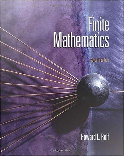 Finite Mathematics (7th Ed)