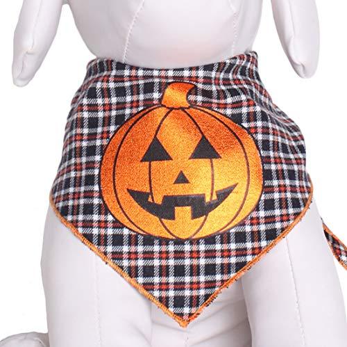 Tail Trends Halloween Dog Bandana with Pumpkin Foil